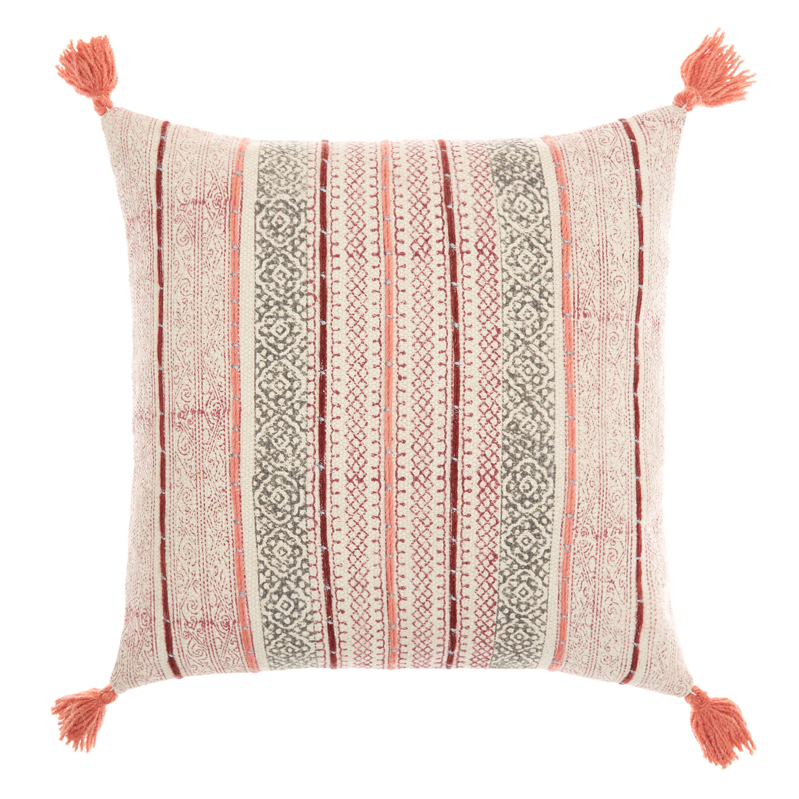 Cuscino stampato a mano motivi geometrici