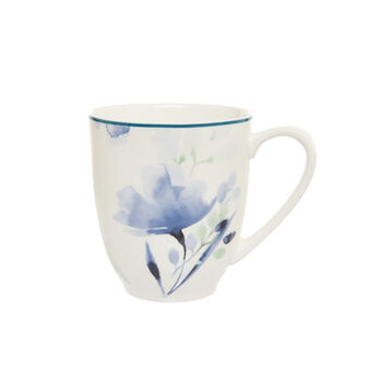 Mug in new bone China with floral motif