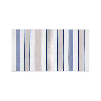 Beach towel in cotton velour with stripes