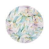 Ceramic charger plate with flowers motif