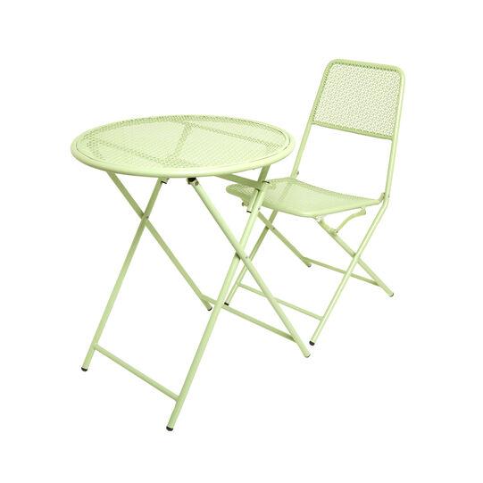 Green coffee table in steel