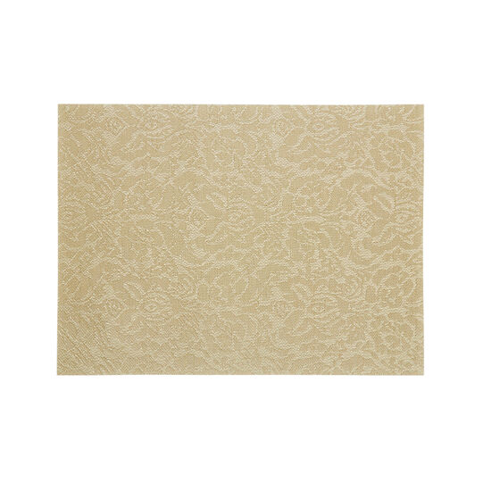 PVC table mat with flower motif