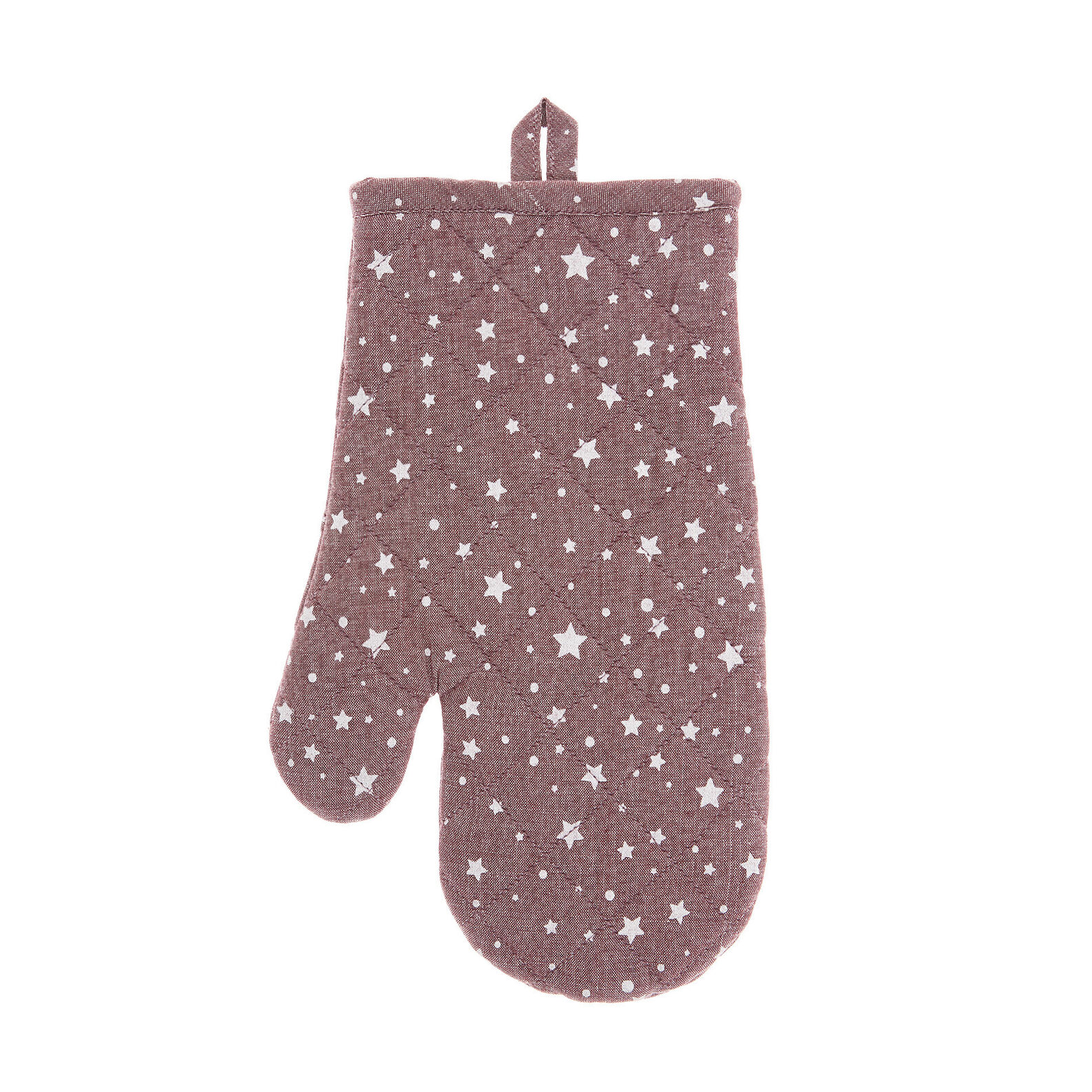 Oven mitt in 100% cotton with star print