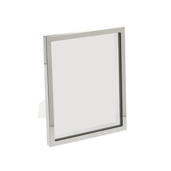 Glass and steel photo frame