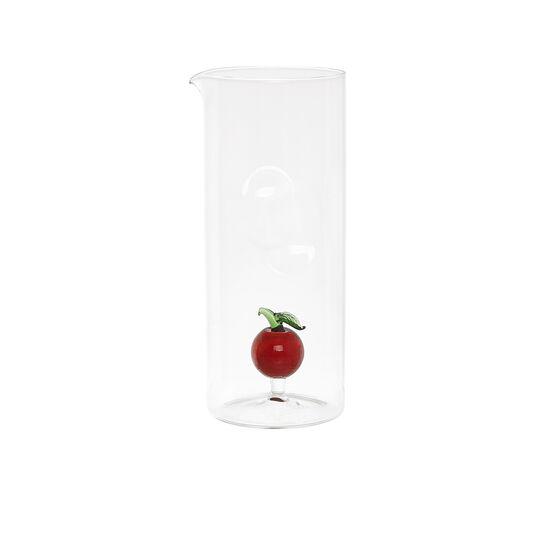 Caraffa in vetro dettaglio mela