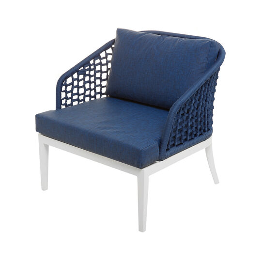 Mediterranean armchair in polyester and aluminium