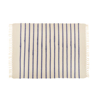 Tappeto bagno puro cotone a righe