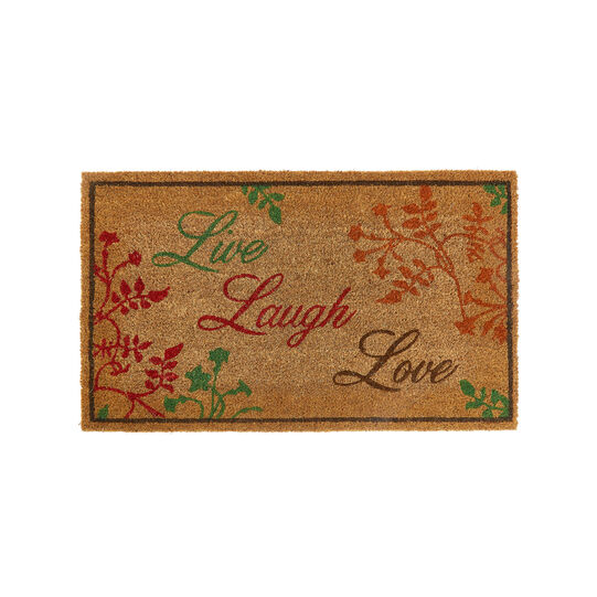Live Laugh Love coconut door mat