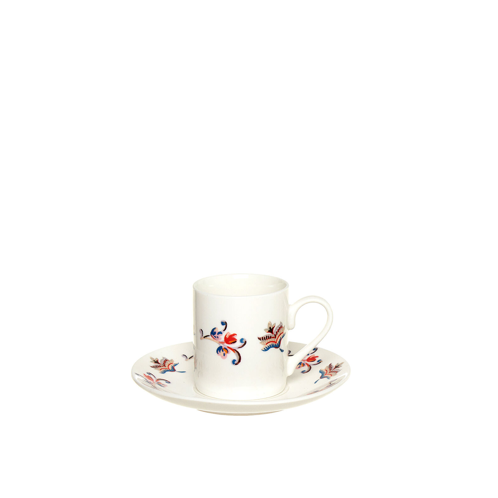 Tazza da caffè New Bone China decoro floreale