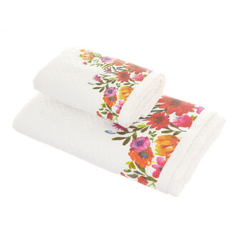 100% cotton towel with flower print