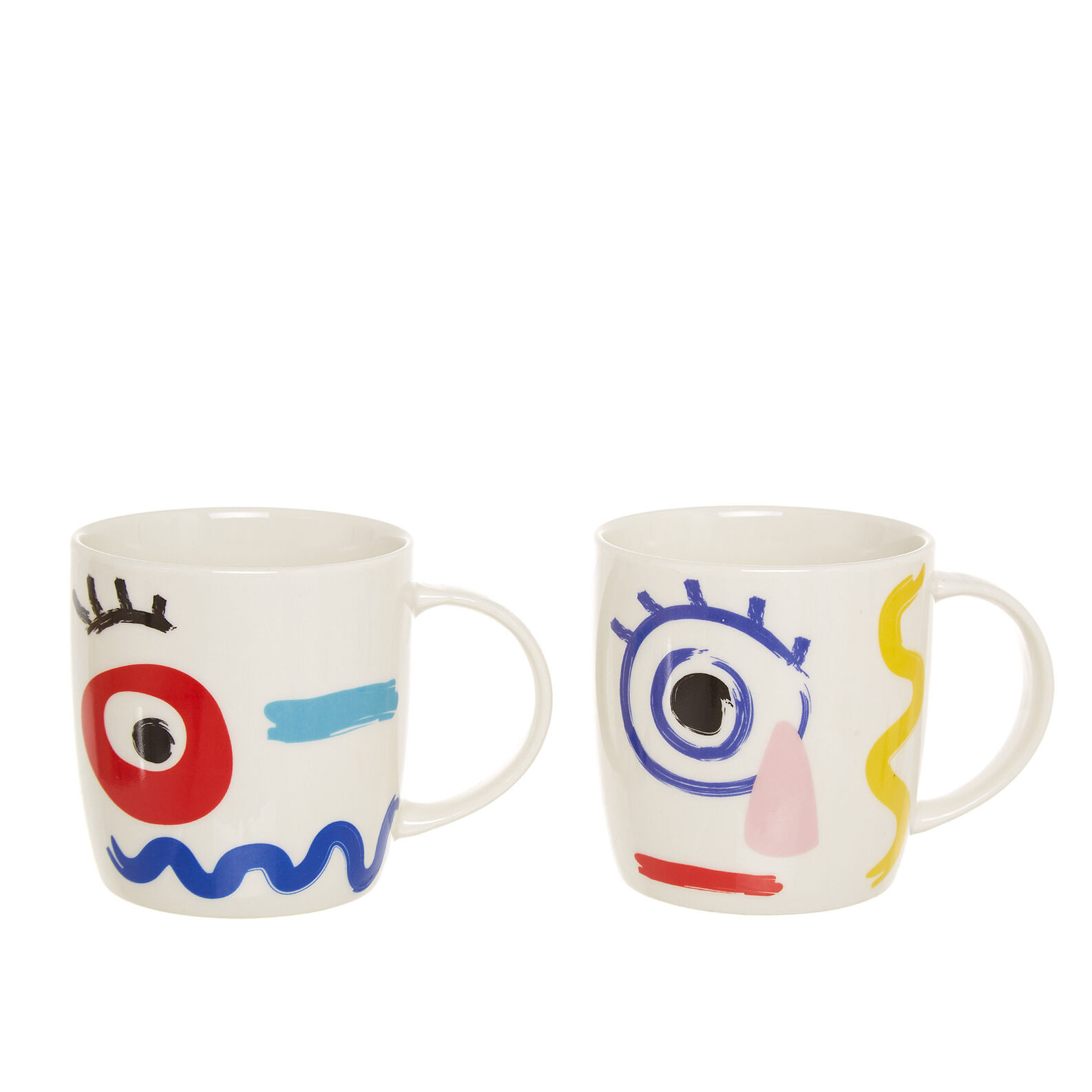 Mug in new bone China with abstract motif