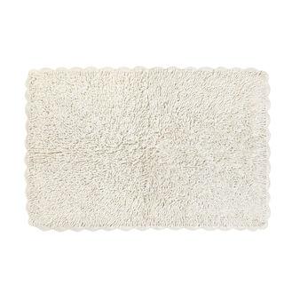 Bath mat with crochet