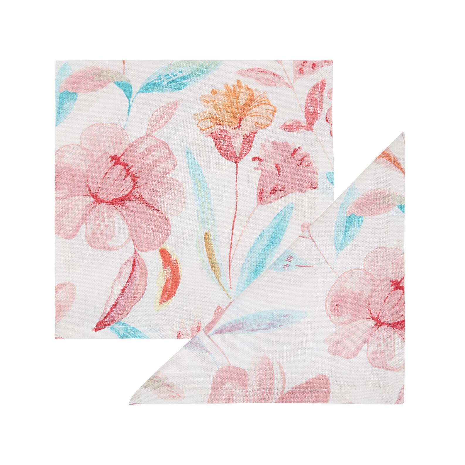 Set 4 tovaglioli puro cotone stampa floreale