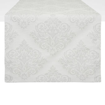 Table runner in damask cotton blend