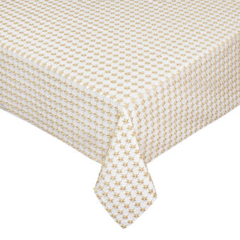 Star openwork table cover with lurex