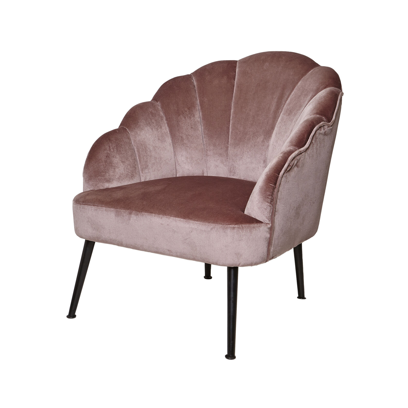 Rose velvet armchair