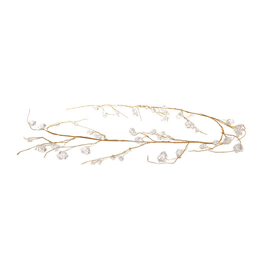 Decorative branch with crystals