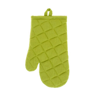 Kitchen mitt in pure iridescent cotton