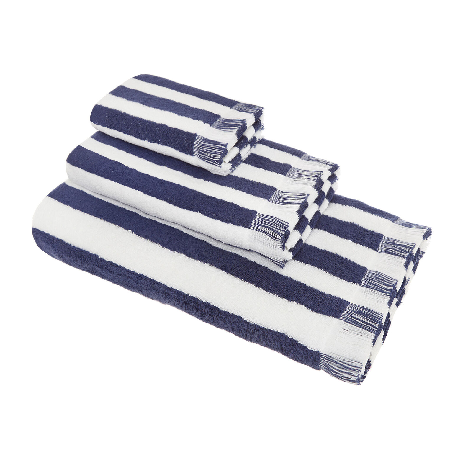 Yarn-dyed cotton towel, striped