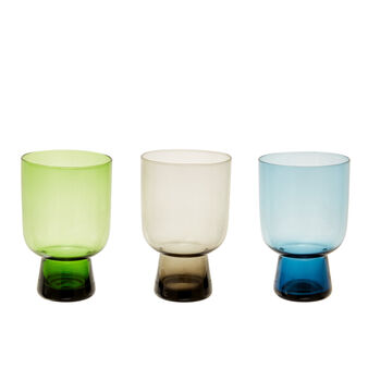 Solid colour coloured glass tumblers