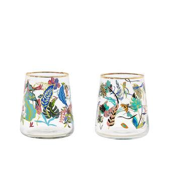 Bicchiere vetro motivo amazzonia