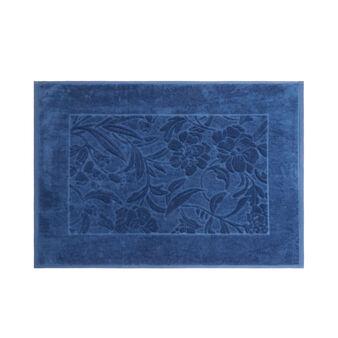 Tappeto bagno puro cotone motivo damasco
