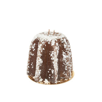 Pandoro-shaped candle made in Italy