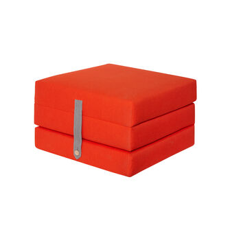 Otto solid colour fabric ottoman