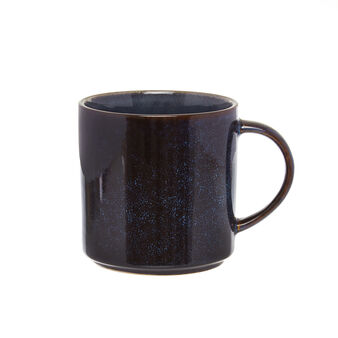 Mug in stoneware con finitura a smalti reattivi Linea Space