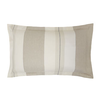 Striped pillowcase in yarn-dyed linen blend