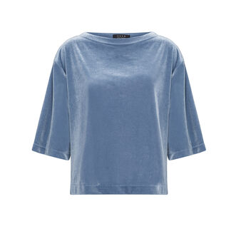 Solid color chenille T-shirt