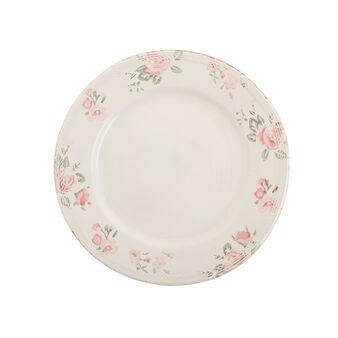 Piatto piano ceramica floreale