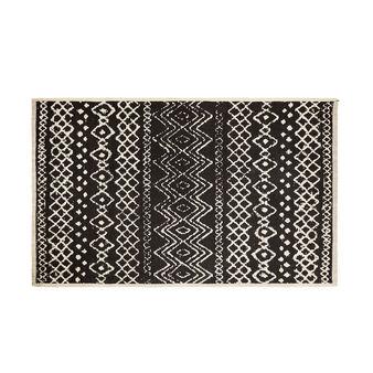 Tappeto misto cotone motivi geometrici