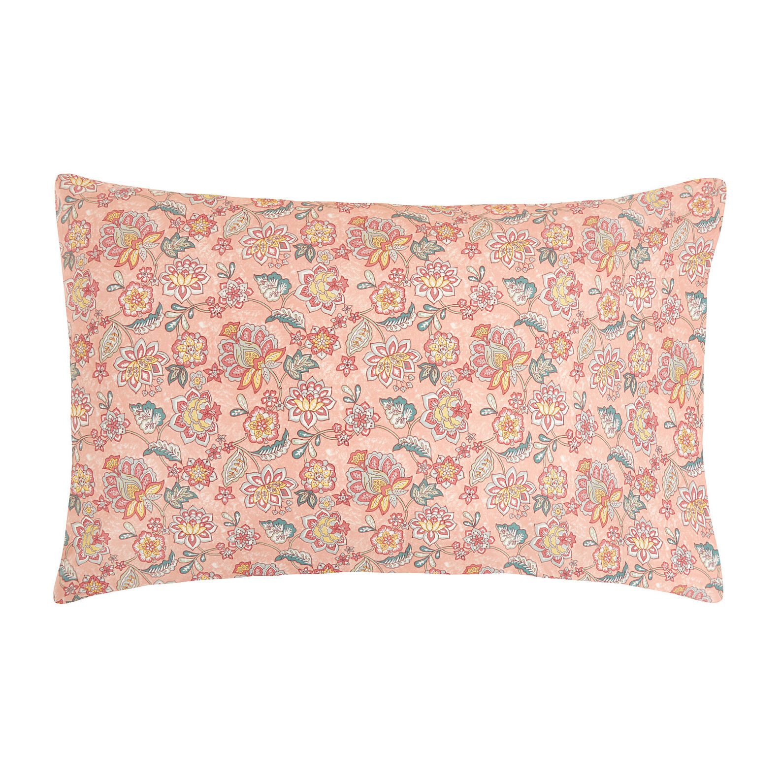 Organic cotton pillowcase with flower pattern