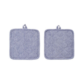 Set of two cotton mélange pot holders
