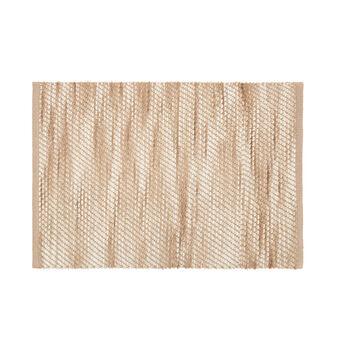 Bathroom rug with melange effect