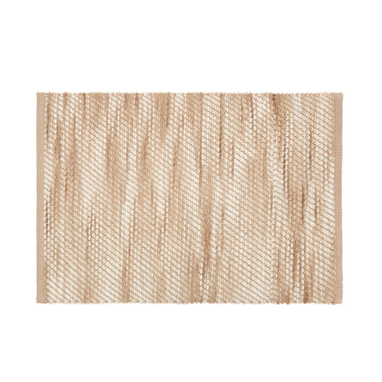 Bathroom rug with melange effect