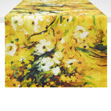 100% cotton table runner with floral print
