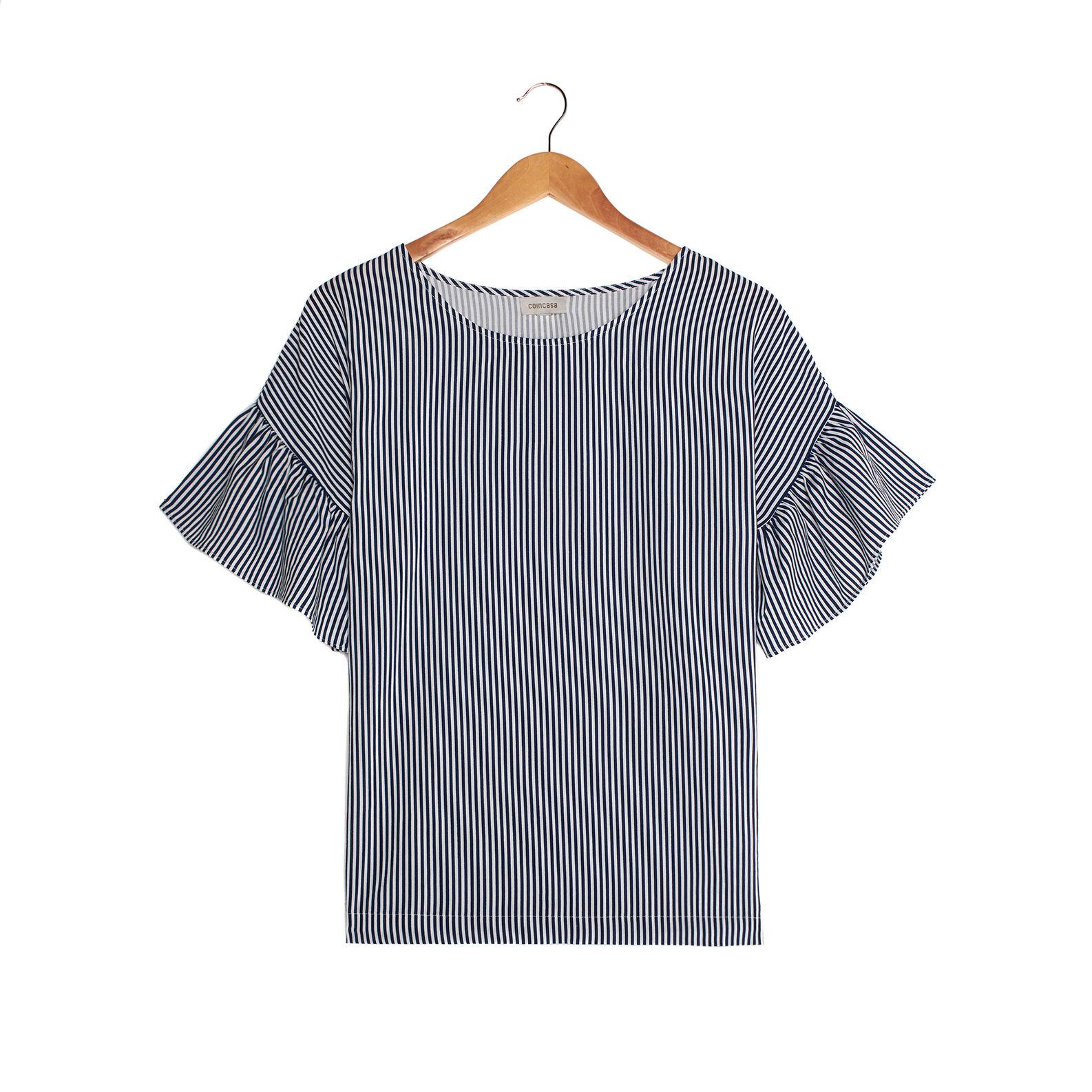 Maglietta viscosa a righe