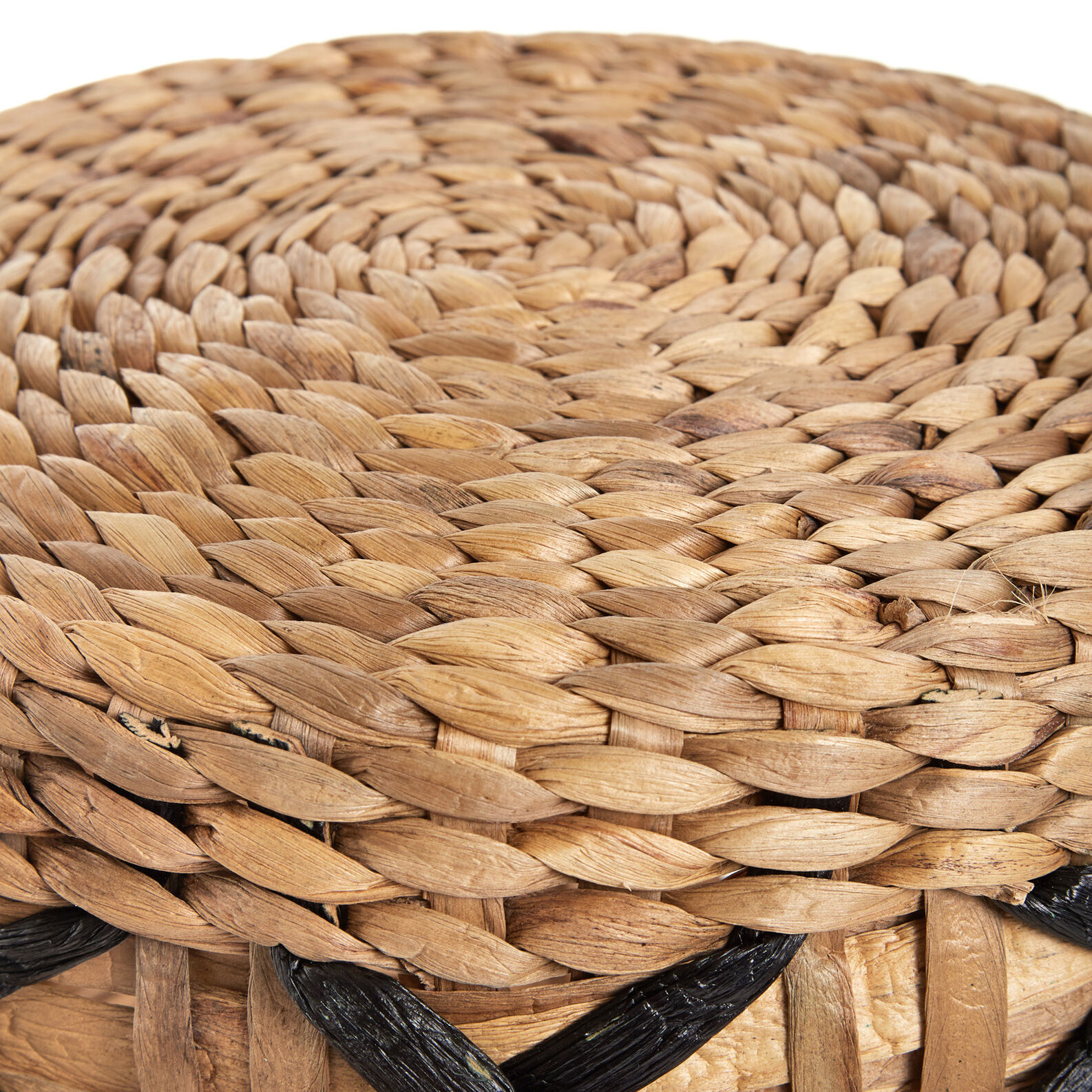 Water hyacinth stool, woven by hand.