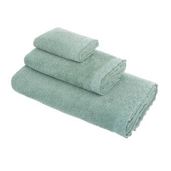 Asciugamano spugna di cotone bordo sangallo