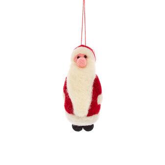 Addobbo Babbo Natale fatto a mano
