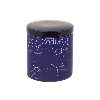 Ceramic cotton container with constellation motif