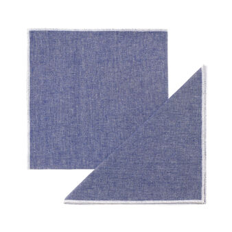 Set of 2 solid colour napkins in 100% cotton mélange