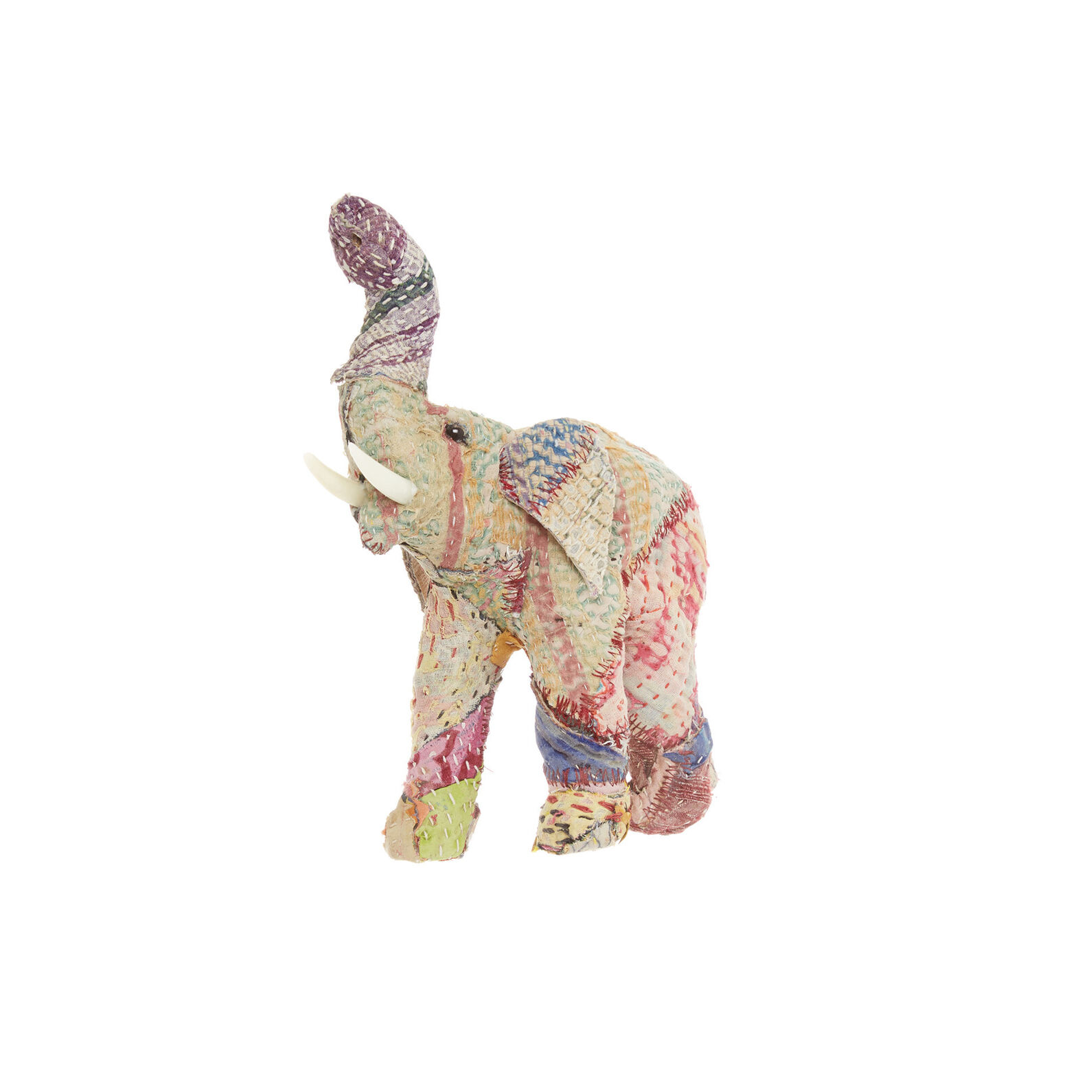 Hand-made elephant in recycled material