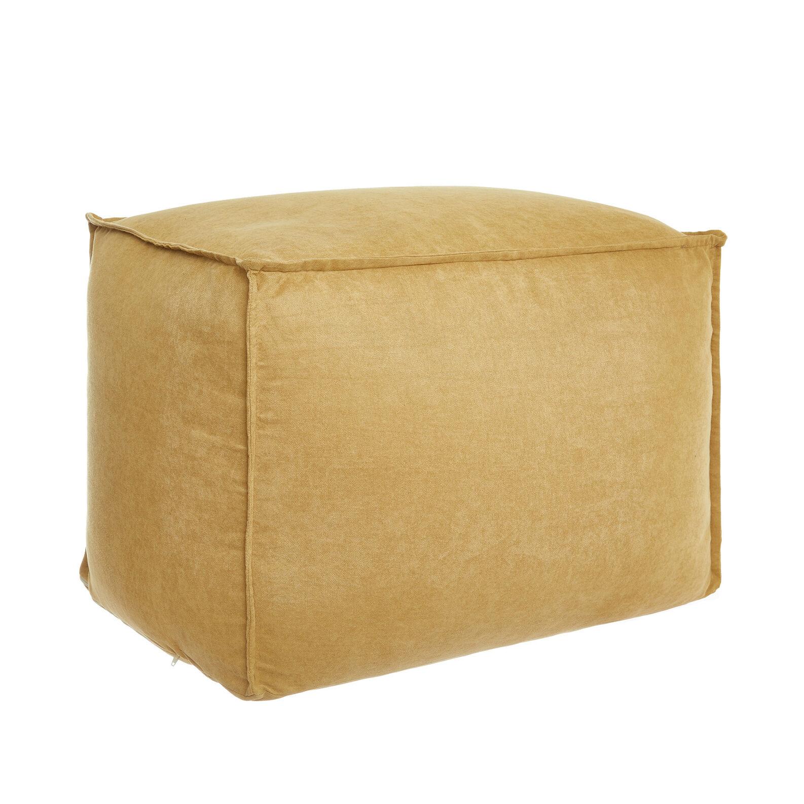 Solid colour velvet footstool