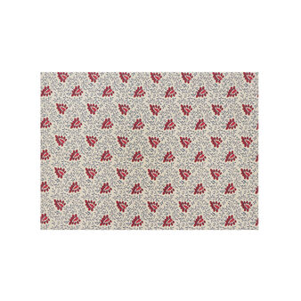 100% cotton table mat with floral foliage print