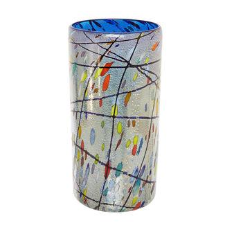Vaso in vetro di Murano fatto a mano