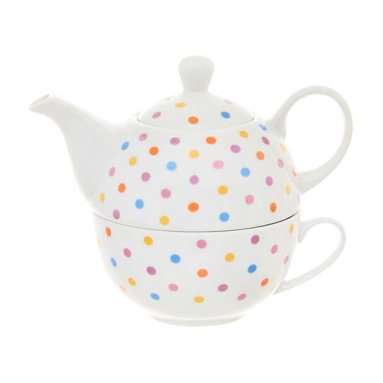 Tea for one porcellana a pois