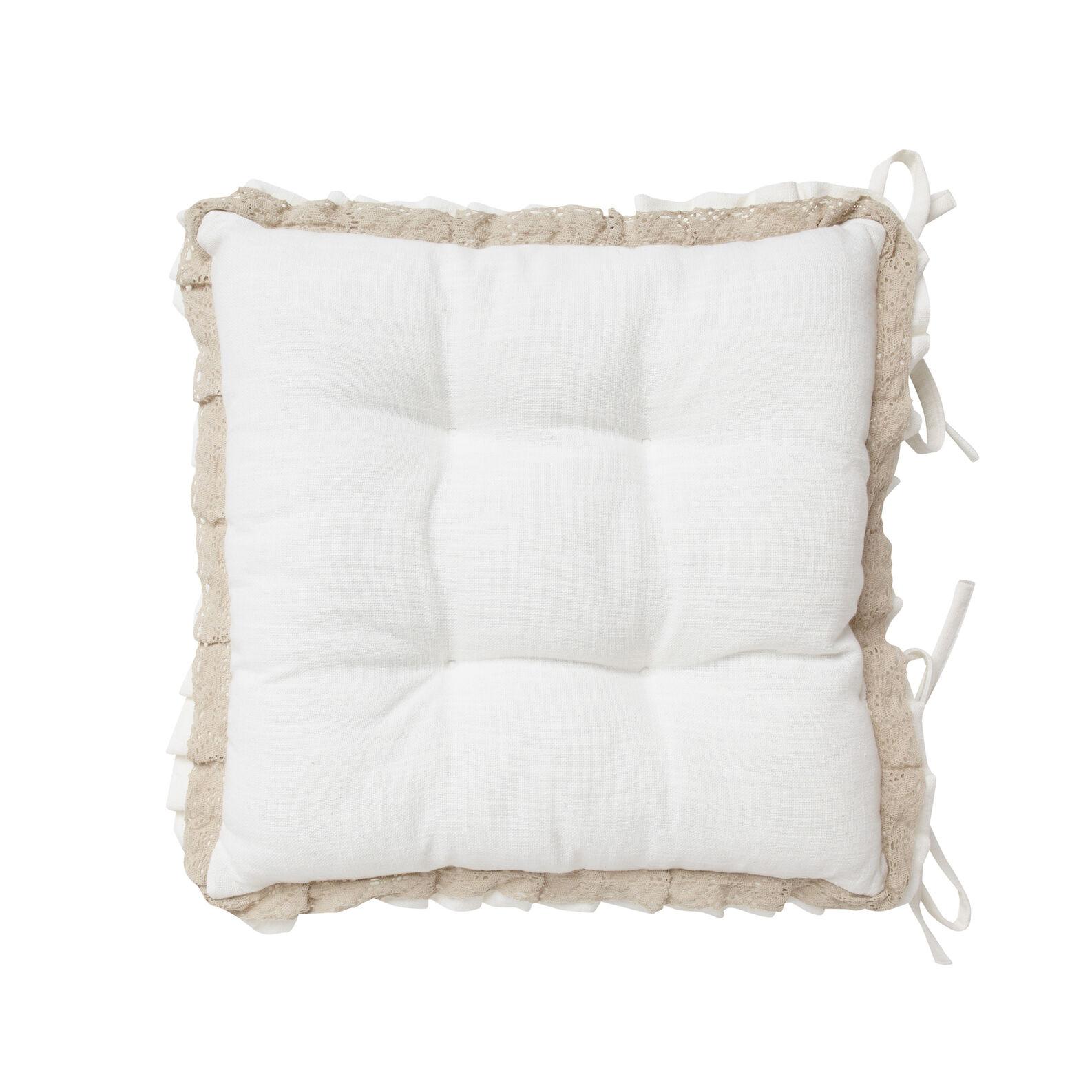 Burano lace seat pad